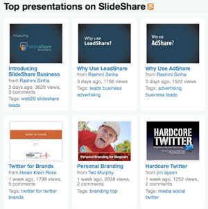 Top presentations on Slideshare